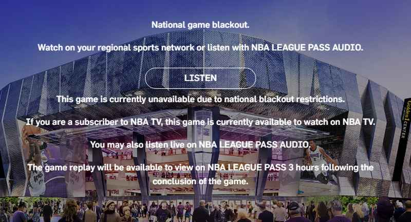 Blackout Restriction NBA